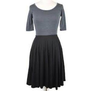 LuLaRoe Color Black Black Gray Nicole Dress